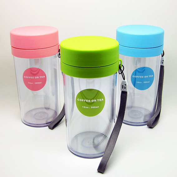 korean style travel tea tumbler with removable strainer